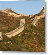 The Great Wall On Beautiful Autumn Day Metal Print