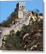 The Great Wall Mountaintop Metal Print