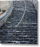 The Great Wall Steps Metal Print