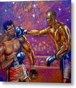 the Greatest  Muhammed Ali vs Jack Johnson Metal Print