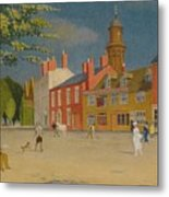 The Green At Banbury Metal Print