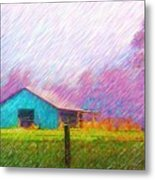 The Green Barn Metal Print