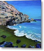The Green Beach The Big Island Hawaii Metal Print