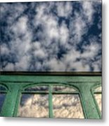 The Green Carriage Metal Print