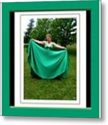 The Green Dress Metal Print