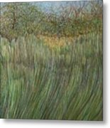 The Green Field Metal Print