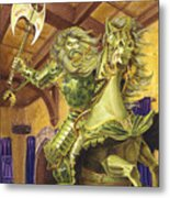 The Green Knight Metal Print