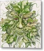 The Green Man Metal Print by Angelina Whittaker Cook
