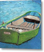 The Green Rowboat Metal Print