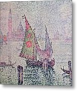The Green Sail Metal Print