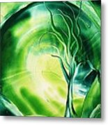 The Green Scenery Metal Print