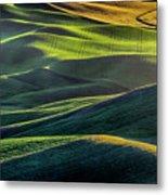 The Green Waves Of Palouse Wa Dsc05032  Metal Print
