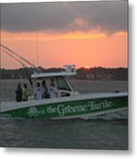 The Greene Turtle Power Boat Metal Print