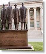 The Greensboro Four February One Monument Metal Print