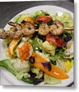 The Grilled Shrimp Salad Metal Print