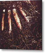 The Grindcore Axeman Got Fingered Metal Print