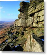 The Gritstone Rock Formations On Stanage Edge Metal Print