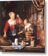 The Grocery Shop 1672 Metal Print