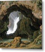The Grotto Of Neptune In Tivoli Metal Print