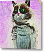 The Grumpy Cat From The Internets Metal Print
