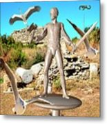 The Guardian Of The Ruins 1 Metal Print