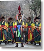 The Guards Of Seoul. Metal Print