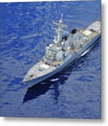 the guided-missile destroyer USS Okane Metal Print