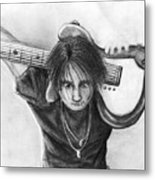 The Guitarist Metal Print