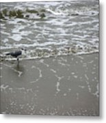 The Gulf In Shades Of Gray - On The Edge Metal Print