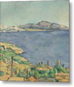 The Gulf Of Marseilles Seen From L'estaque Metal Print