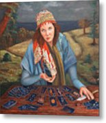 The Gypsy Fortune Teller Metal Print