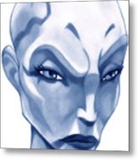 The Hairless Harpy Aka Asajj Ventress Metal Print