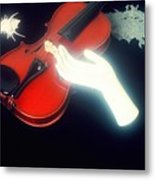 The Hand And The Violin Metal Print