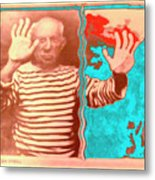 The Hands Of Picasso Metal Print