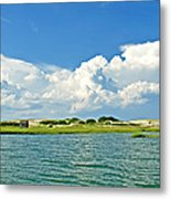 The Handys Camp On Sandy Neck Metal Print