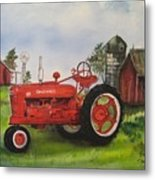 The Hansen Tractor Metal Print