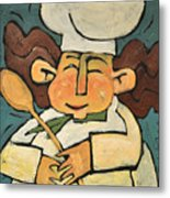 The Happy Chef Metal Print