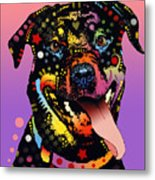 The Happy Rottie Metal Print by Dean Russo