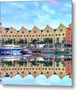 The Harbor At Galway Metal Print