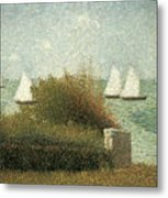 The Harbor At Grandcamp Metal Print