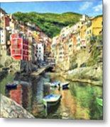 The Harbor At Rio Maggiore Metal Print