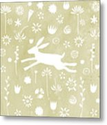 The Hare In The Meadow Metal Print