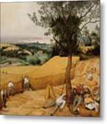 The Harvesters By Pieter Bruegel The Elder                             Metal Print