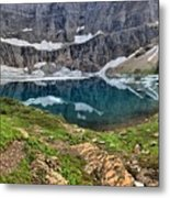 The Heart Of Many Glacier Metal Print
