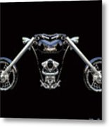 The Heart Of The Harley Metal Print