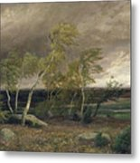 The Heath In A Storm Metal Print by Valentin Ruths