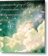 The Heavens Declare Metal Print by Stephanie Frey