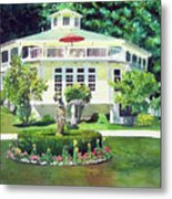 The Hexagon House, Bed And Breakfast, House Painting Metal Print