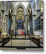 The High Altar In Salisbury Cathedral Metal Print