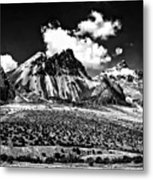 The High Andes Monochrome Metal Print